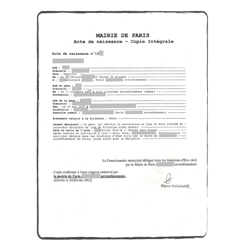 Certified  Official Translation Birth Certificate  Acs Onlineshop