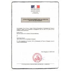 acte de pacs -  pacte civil de solidarité - français FR