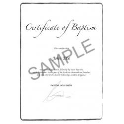 acte de baptême EN anglais Angleterre Royaume-Uni UK US états-unis
