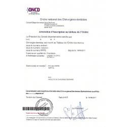 Attestation d'inscription médicale FR