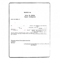Certificat de décès