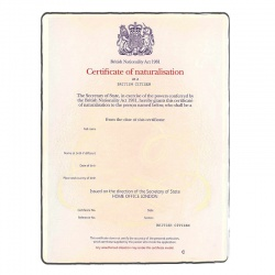 Acte de naturalisation GB-FR